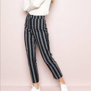 Brandy Melville Grey/Black Striped Pants